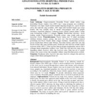 GINGIVOSTOMATITIS HERPETIKA PRIMER PADA<br /><br /> NY. N USIA 32 TAHUN